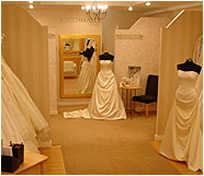 Bridal Wear London showroom featuring wedding dresses and wedding gowns