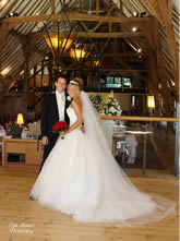 Bride and Groom at Barn Brasserie London Weddings Venue for Hire