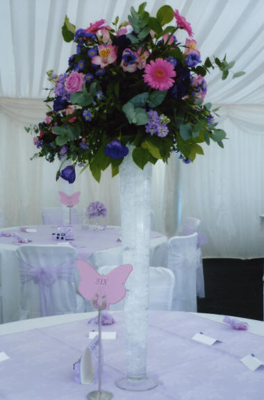 Wedding Floral Decoraton Table Centre created by an London Florist