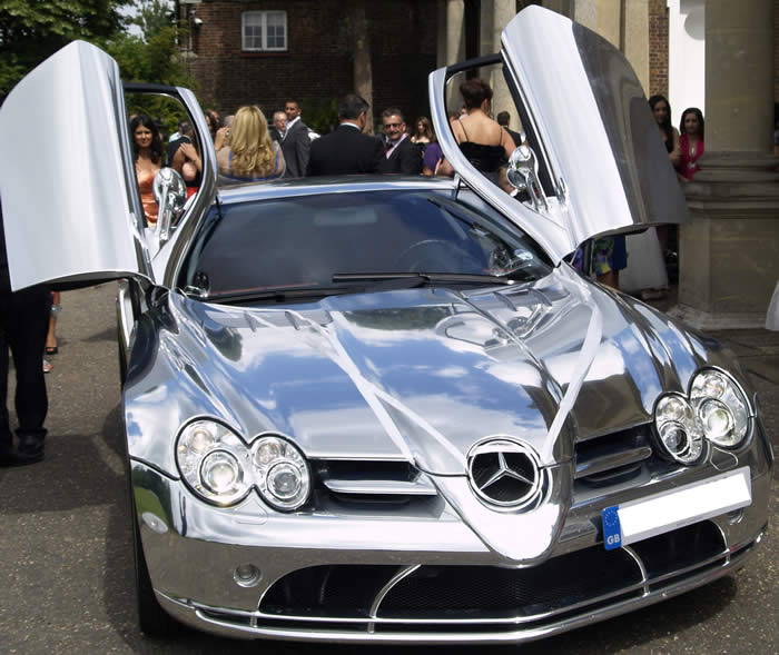 Mercedes SLR Wedding Car Hire and Rental in London