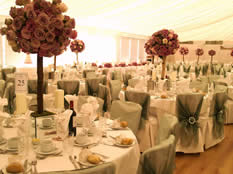 London Wedding Venue Decoration Flowers, Table Linen, Chair Covers
