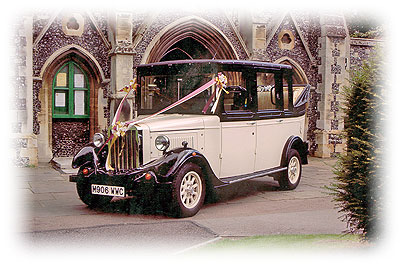 Asquith Carriage Wedding Car from an London Car Vintage Hire company