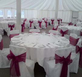 Chair covers for your London Wedding