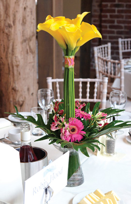 Flower centrepiece for your wedding day at your London Wedding Venue