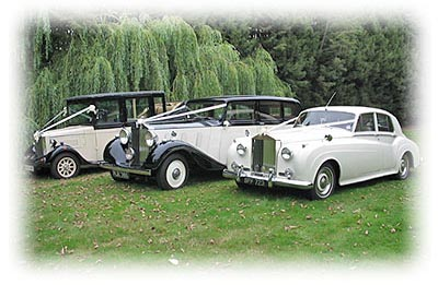 Three wedding cars from an London Wedding Car Hire company